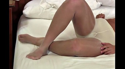 Pantyhosed, White pantyhose, Shiny pantyhose