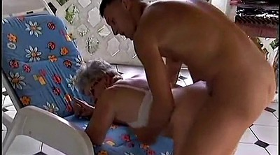 Young old, Grannies, German mature, Granny outdoor