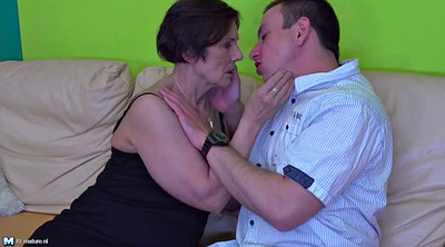 Young boys, Granny and boy, Amateur mature
