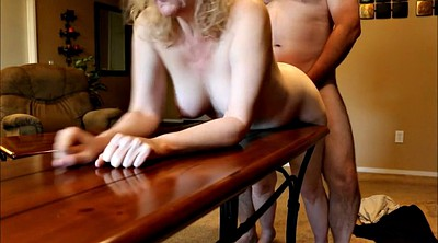 Mature wife, Table, Spanking wife, Spank wife
