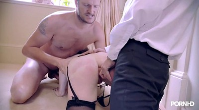 Stocking anal, Stocking threesome