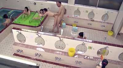 Sauna, Uncensored, Time stop, Asian uncensored, Asian granny, Uncensored creampie