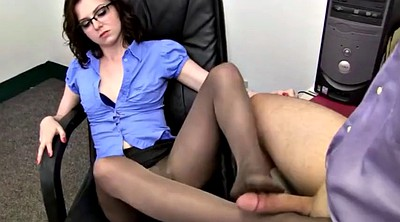 Pantyhosed, Pantyhose feet, Grey pantyhose, Foot job