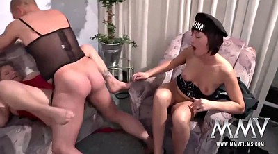 Granny, Old couple, Old and young lesbian, Spanish, Spanish threesome, Old and young lesbians