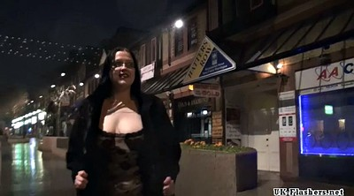 Public outdoor flash, Bbw amateur