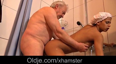 Grandpa, Black granny, Shower fuck, Granny shower, Granny ebony, Grandpas