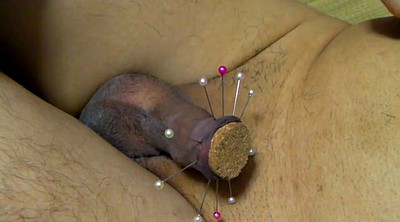 Needle, Needles, Asian gay, Asian gape, Foreskin