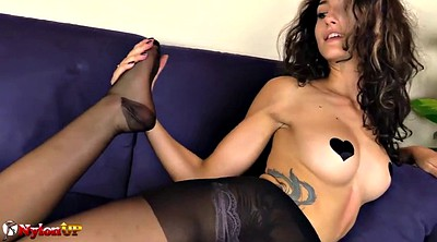 Fetish, Black pantyhose, Pantyhose feet, Pantyhose foot