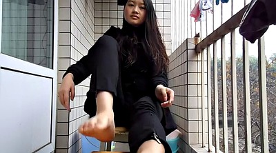 Chinese teen, Chinese foot, Chinese feet, Foot sole, Adorable asian