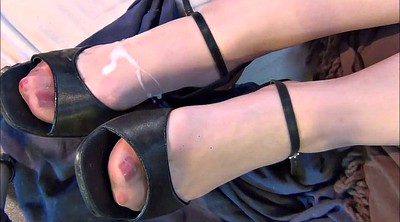 Stocking, Nylon foot, Shoes, Stocking foot, Nylons foot, Nylon stocking
