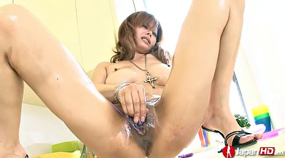 Japanese oil, Orgasm, Japanese masturbating, Hairy solo