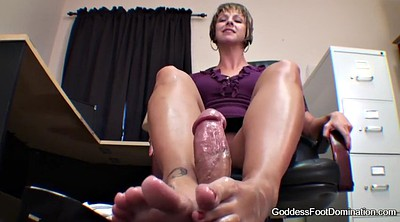 Footjob cumshot, Under footjob, Under table, Under, Table foot, Milf footjob