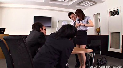 Office, Asian office, Asian gangbang