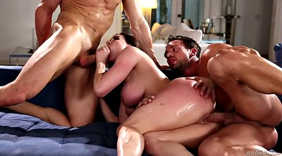 Kendra lust, Gay threesome, Chubby threesome