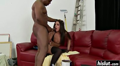 Teen bbc, Black stocking, Small