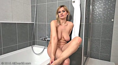 Mature masturbating, Showering, Mom masturbation, Busty mom