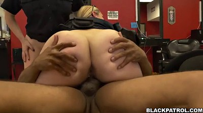 Shop, White, Face fuck, Femdom riding, Black female