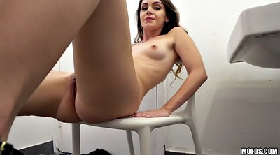 Bathroom, Shaved, Bend over