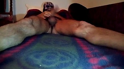 Hairy solo, Ball, Cock flash