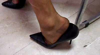 Nylon, Nylon feet, Nylon foot, Shoe, Office foot, Feet nylon