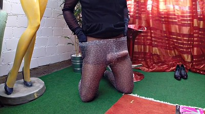Crossdresser, Nylons, Male, Male solo