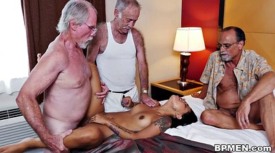 Beach sex, Old men, Granny gangbang, Young gangbang, Old young threesome, Nikki