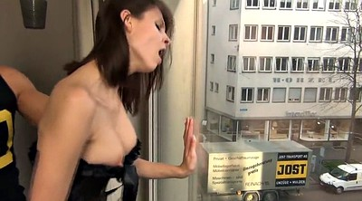 Public creampie, In front of