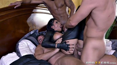 Romi rain, Triple penetration, Triple, Leather boots