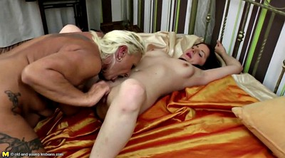 Old, Old mom, Lesbian mom, Mature lesbian seduces young
