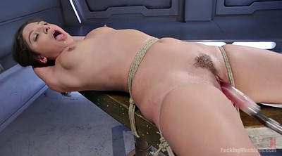 Fucking machines, Machine orgasm, Sybian, Tie up, Solo hairy, Orgasm machine