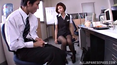 Asian foot, Pantyhose handjob, Office asian