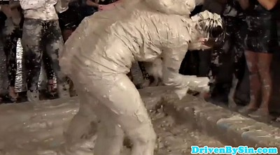 Wrestling, Fighting, Lesbian wrestling, Fight, Mud