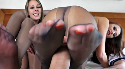 Footjob, Fetish, Pantyhose footjob, Nice, Footjob girl