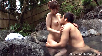 Asian, Japanese hairy, Japanese couple, Hot spring, Outdoor japanese