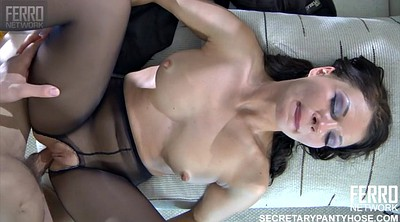 Interview, Casting, Russian milf, Job, Panties creampie
