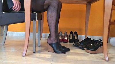 Heels, Nylon, Nylon fetish, Foot fetish, Pantyhose foot, Nylon foot