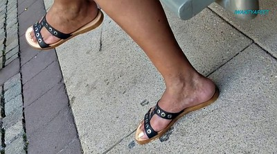 Candid, Mature foot, Mature feet, Ebony feet, Candid foot, Feet candid