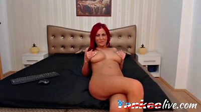 Red hair, Webcam strip, Strip tease