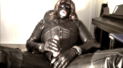 Leather, Gay black, Black gay porn, Latex handjob