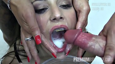 Facial, Swallow, Spanish bukkake