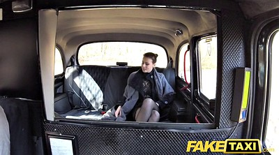 Taxi, Lady, Fake tits, Czech taxi