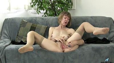 Mature stocking, Strip, Stockings solo, Stocking masturbation, Solo stocking