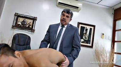 Asian interracial, Young guy, Old and young gay, Gay daddy, Jordan, Asian office