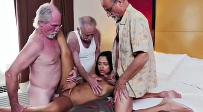 Old men, Old young threesome, Old seduce, Granny threesome