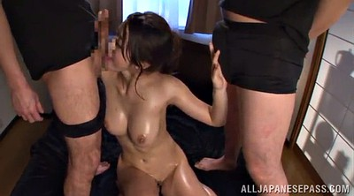 Asian oil, Double creampie, Asian creampie