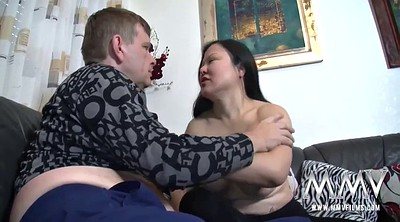 Asian wife, Ride, White milf, Chubby asian, Asian maid