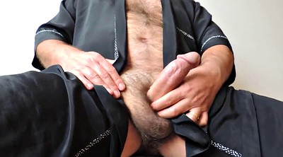 Sleep, Sleeping daddy, Hairy mature, Ejaculation