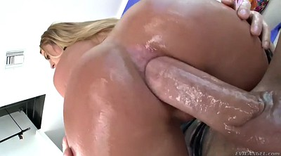 Riding, Oiled, Chubby milf anal, Big ass cumshot