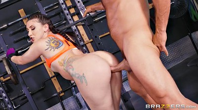 Mandy muse, Glove, Gloves, Standing, Gym anal, Tattoos