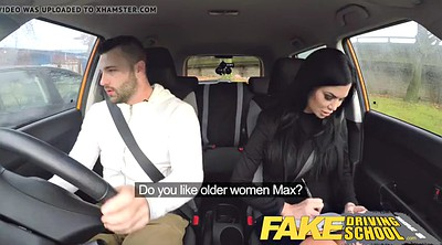 Young, Seduced by milf, Faking, Fake school, Fake driving school, Fake drive